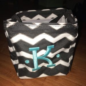 "Chevron custom ""k"" bag. Multi use. handle attached"